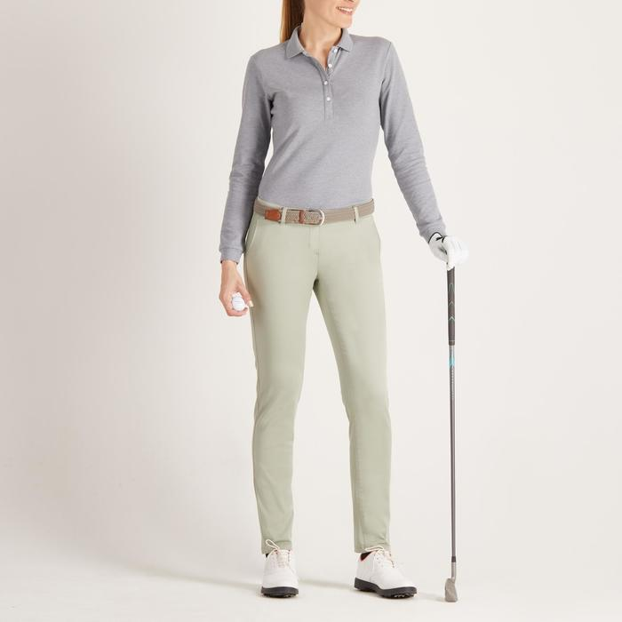 POLO MANCHES LONGUES GOLF FEMME 500 - 1488649