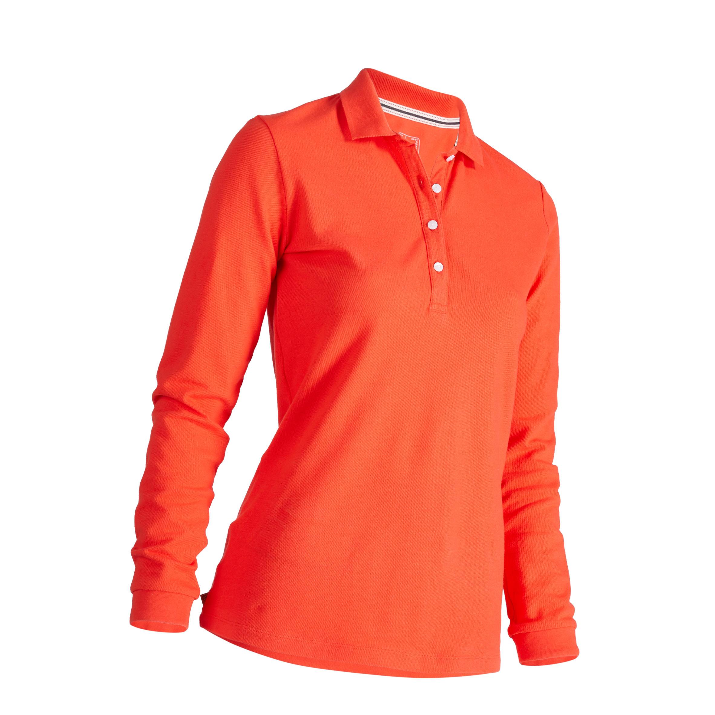 Inesis Golfpolo 500 met lange mouwen voor dames