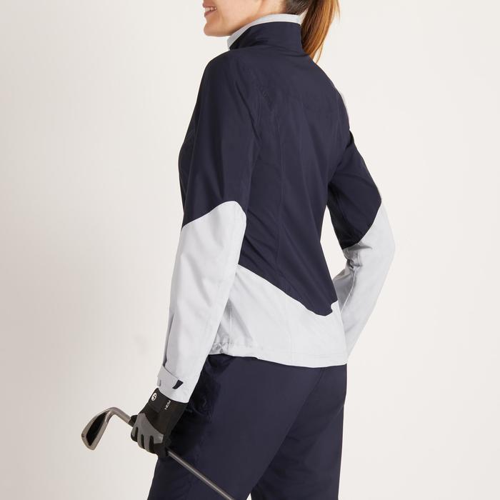 900女款高爾夫雨衣-海軍藍和灰色