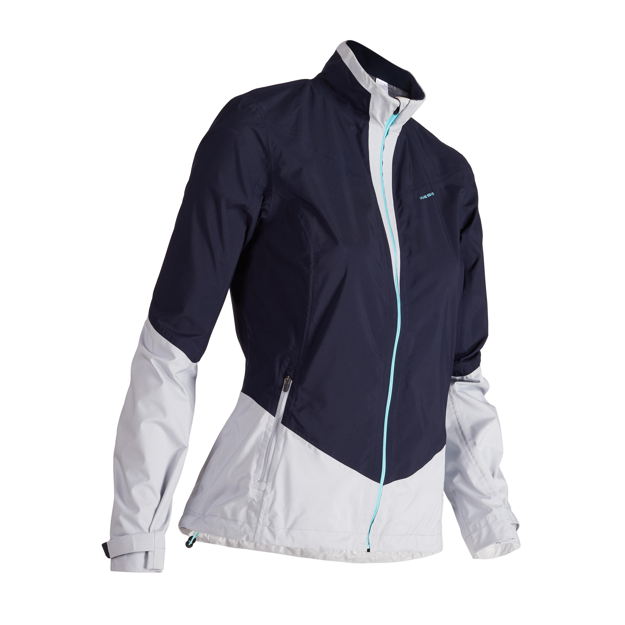 900 Women's Golf Rain Jacket - Navy Blue and Grey