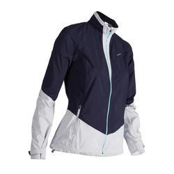 900 Women's Golf Waterproof Rain Jacket - Navy Blue and Grey
