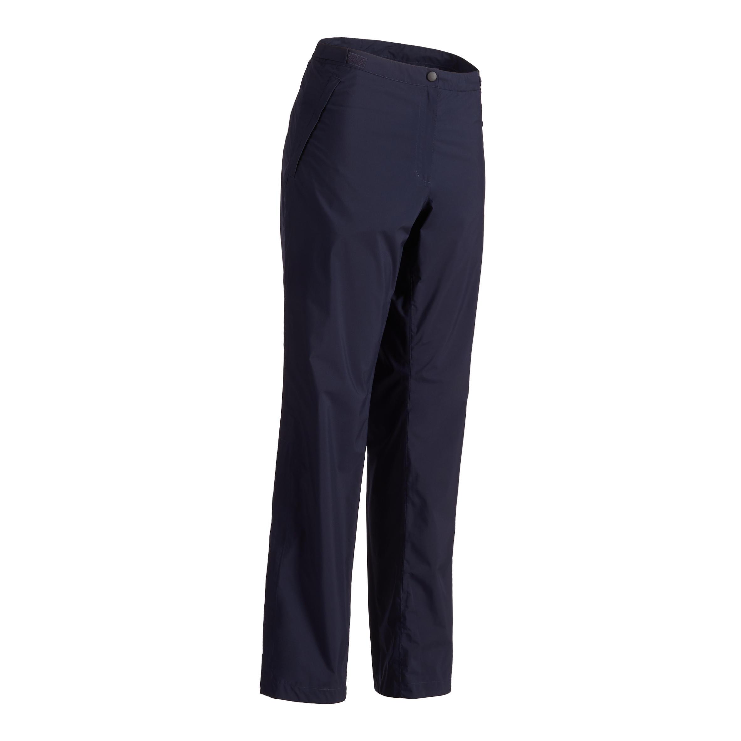900 Women's Golf Waterproof Top-Layer Pants - Navy Blue