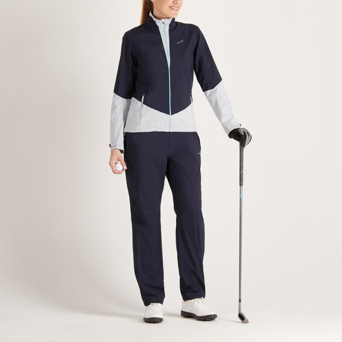 Dames regenbroek 900 voor golf marineblauw