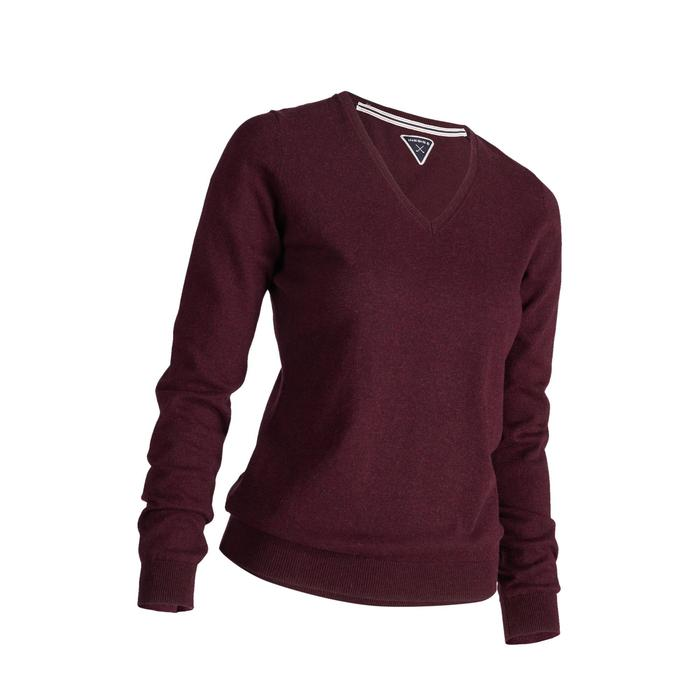 Golf Pullover Damen bordeaux