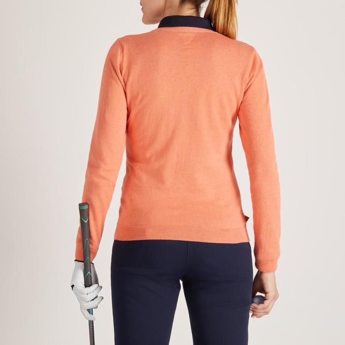 Golftrui voor dames zacht weer abrikoos