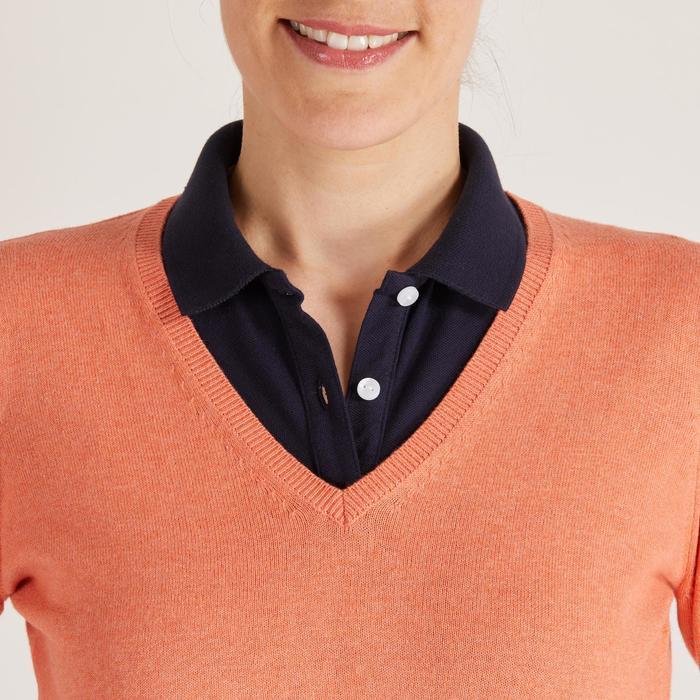 Golftrui voor dames zacht weer oranje