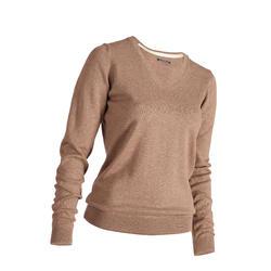 Golf Pullover Damen beige