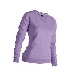 女款高爾夫針織衫-淺紫色