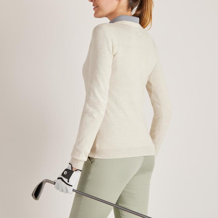 Golftrui voor dames zacht weer ecru