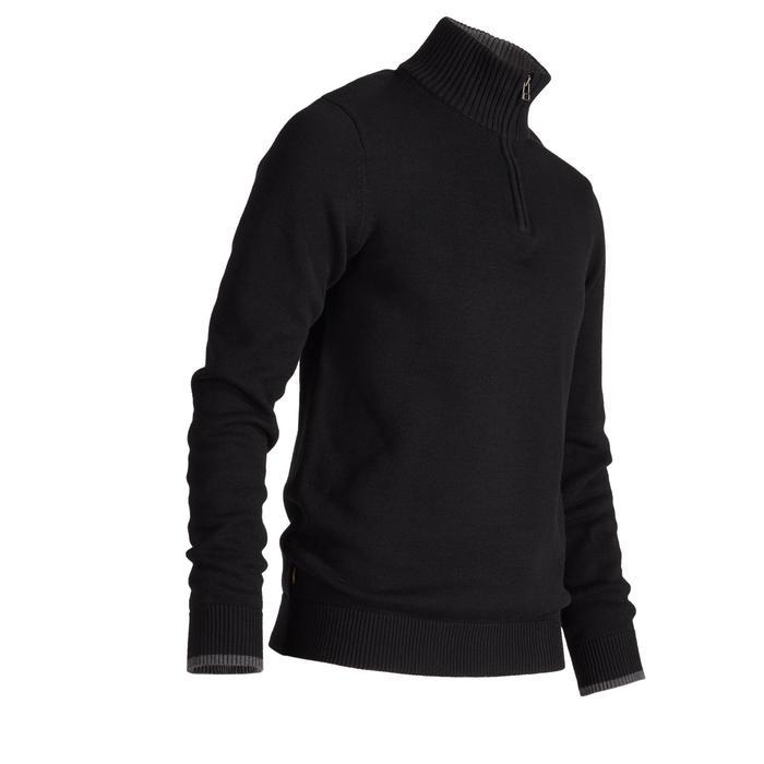 Golf Pullover Zipp warm Herren schwarz