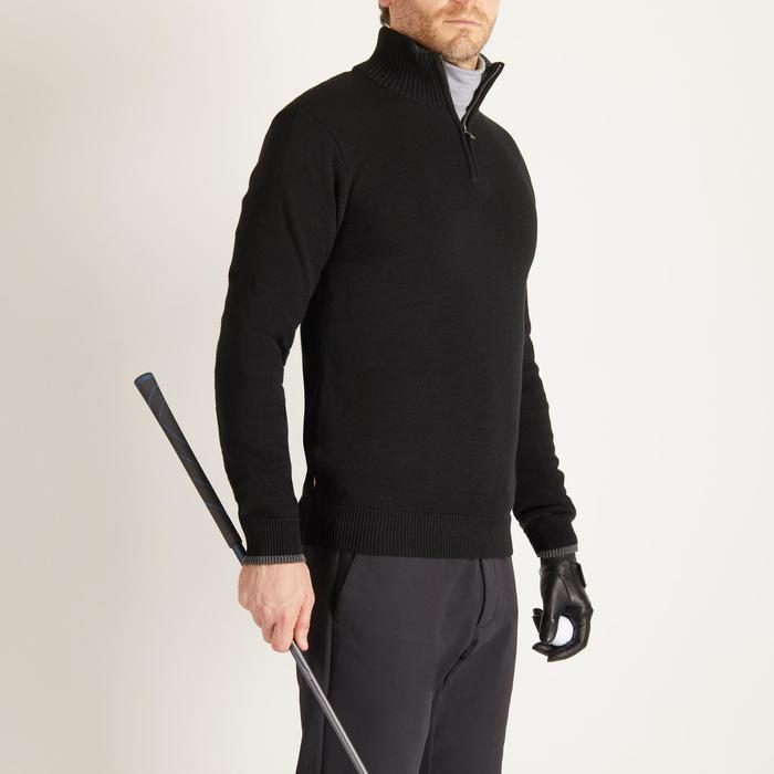 Golf Pullover Zip warm Herren schwarz