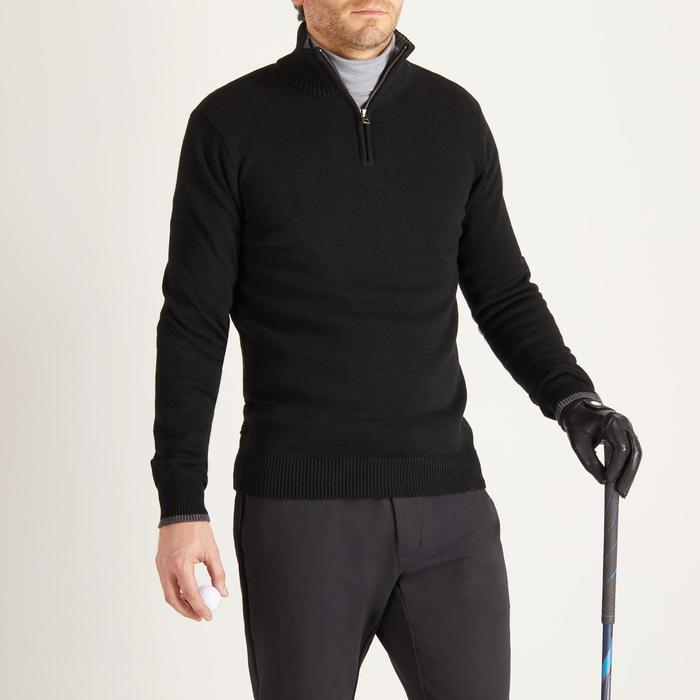 MEN'S NAVY COLD-WEATHER GOLFING PULLOVER - 1488852