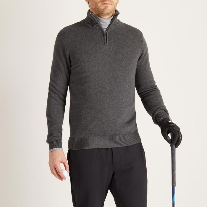 MEN'S NAVY COLD-WEATHER GOLFING PULLOVER - 1488854