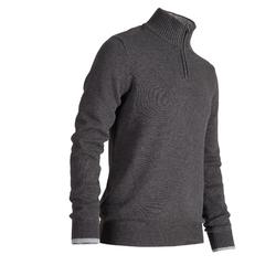MEN'S DARK GREY COLD-WEATHER GOLFING PULLOVER