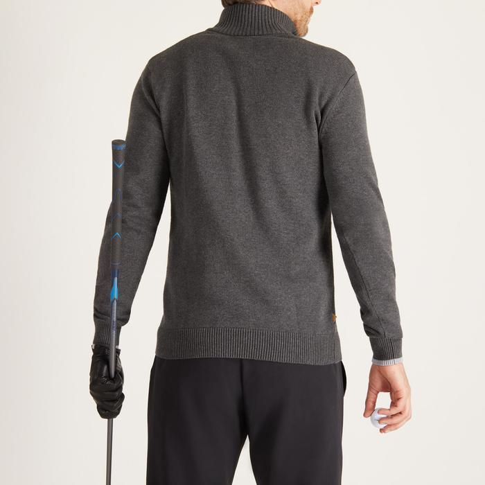 Golf Pullover Zipp warm Herren dunkelgrau