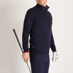 Golf Pullover Zipp warm Herren marineblau