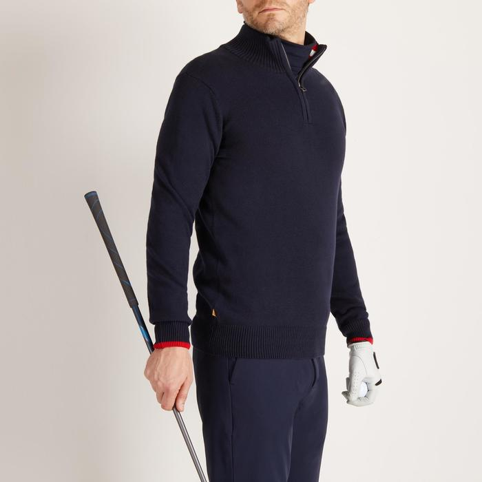 MEN'S NAVY COLD-WEATHER GOLFING PULLOVER - 1488874