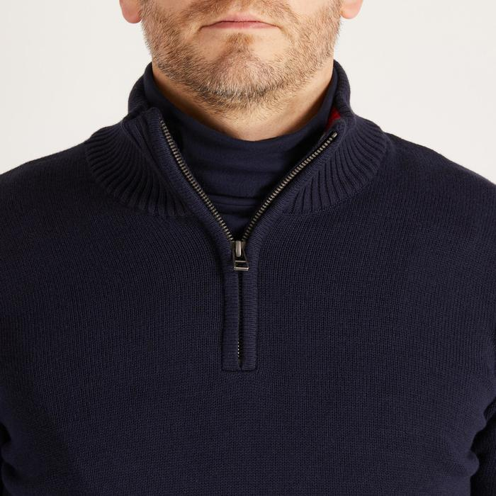 MEN'S NAVY COLD-WEATHER GOLFING PULLOVER - 1488881