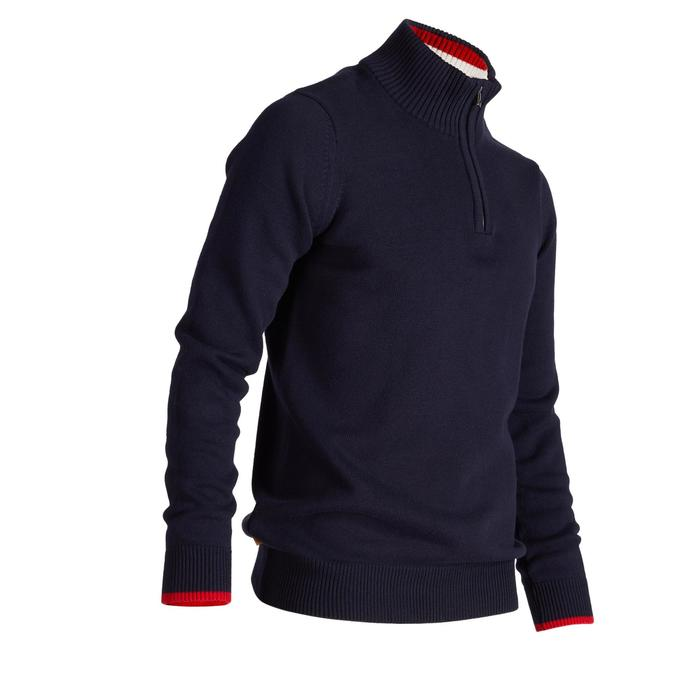 PULL GOLF TEMPS FROID POUR HOMME BLEU MARINE