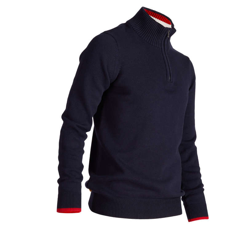 MENS COLD WEATHER GOLF CLOTHING Golf - Inesis Men's Cold-Weather Golf Sweater - Navy INESIS - Golf Clothing