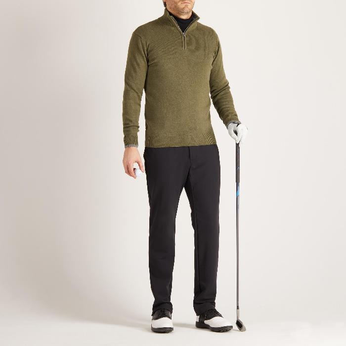 MEN'S NAVY COLD-WEATHER GOLFING PULLOVER - 1488883