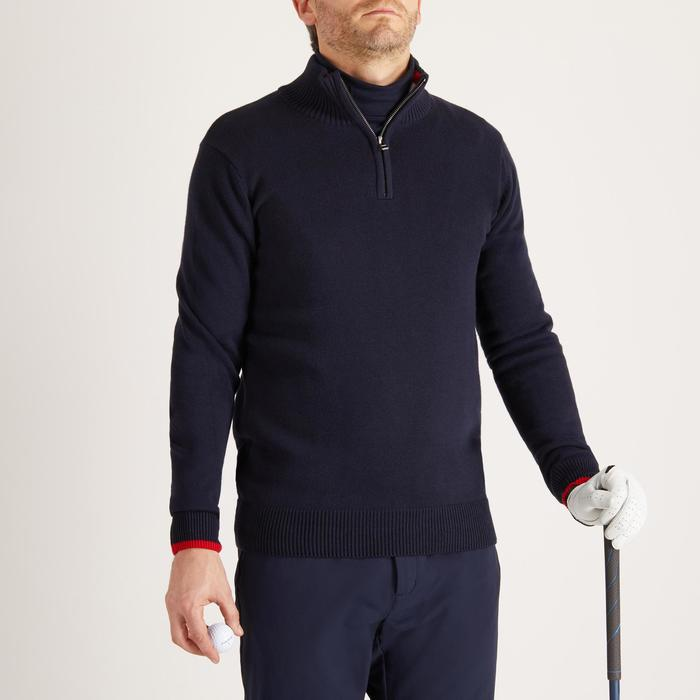 MEN'S NAVY COLD-WEATHER GOLFING PULLOVER - 1488891