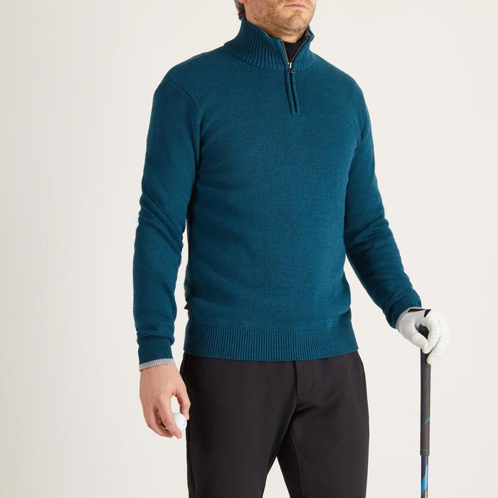 MEN'S NAVY COLD-WEATHER GOLFING PULLOVER - 1488919
