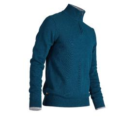 MEN'S DARK BLUE COLD-WEATHER GOLFING PULLOVER