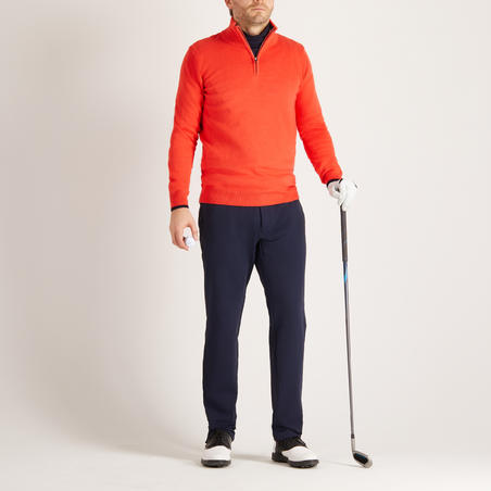 PULL GOLF TEMPS FROID POUR HOMME ROUGE