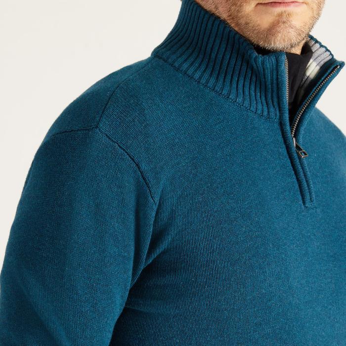 540 男士高爾夫運動針織衫 - 藍色 綠色