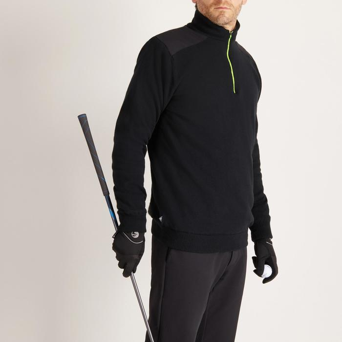 Winddichte golftrui voor heren, koud weer, zwart