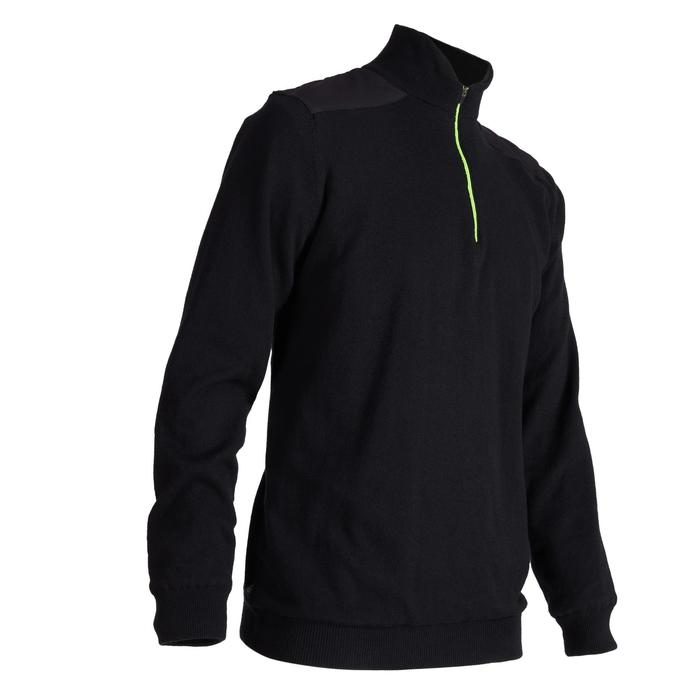 MEN'S BLACK COLD-WEATHER WINDSTOPPER GOLFING PULLOVER