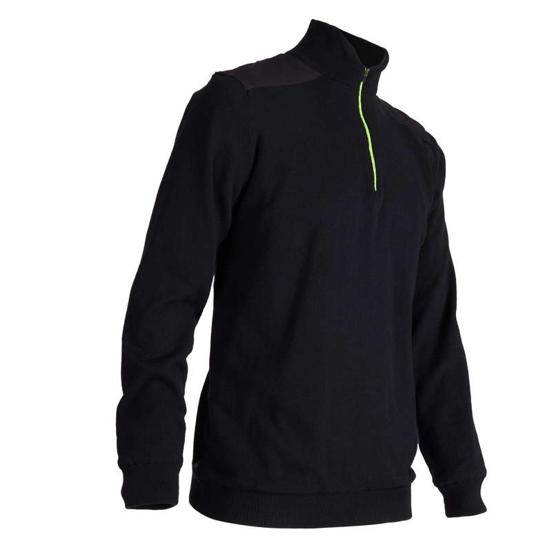 MENS MILD WEATHER GOLF CLOTHING Golf - M BLK CW WINDSTOPPER PULLOVER INESIS - Golf Clothing