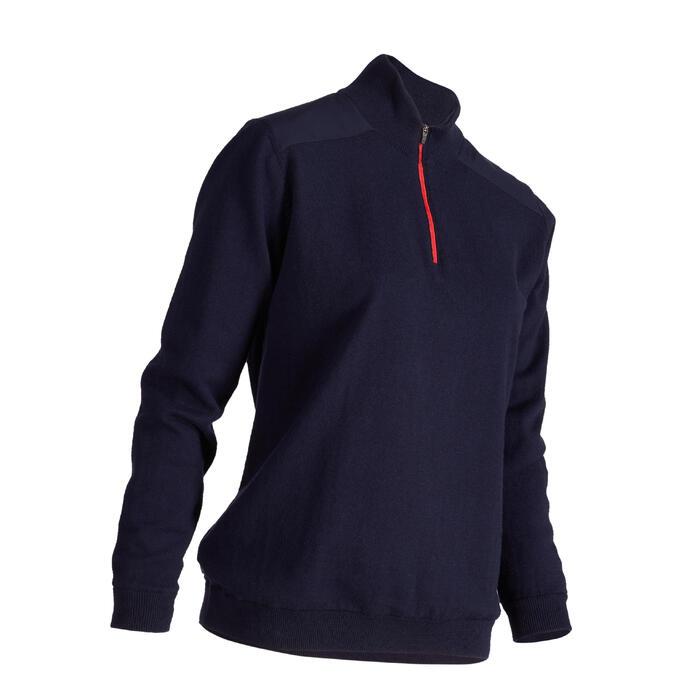 Winddichte damestrui voor golf koud weer marineblauw
