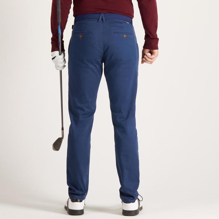 Golfbroek voor heren zacht weer blauw