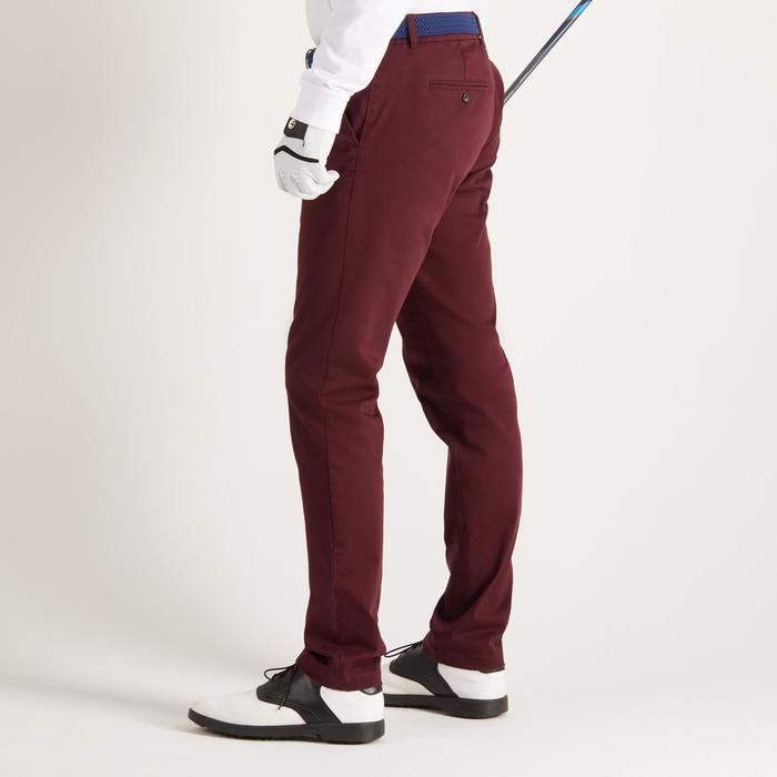 Golfbroek voor heren, zacht weer, bordeaux