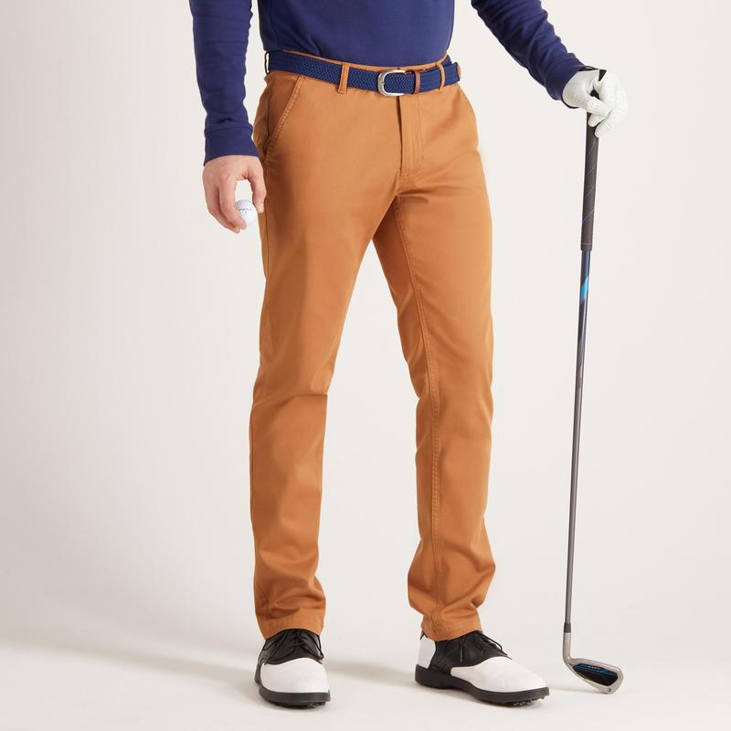 pantalon golf homme 500 noisette decathlon guadeloupe. Black Bedroom Furniture Sets. Home Design Ideas