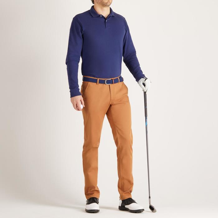 Golfbroek voor heren, zacht weer, hazelnoot