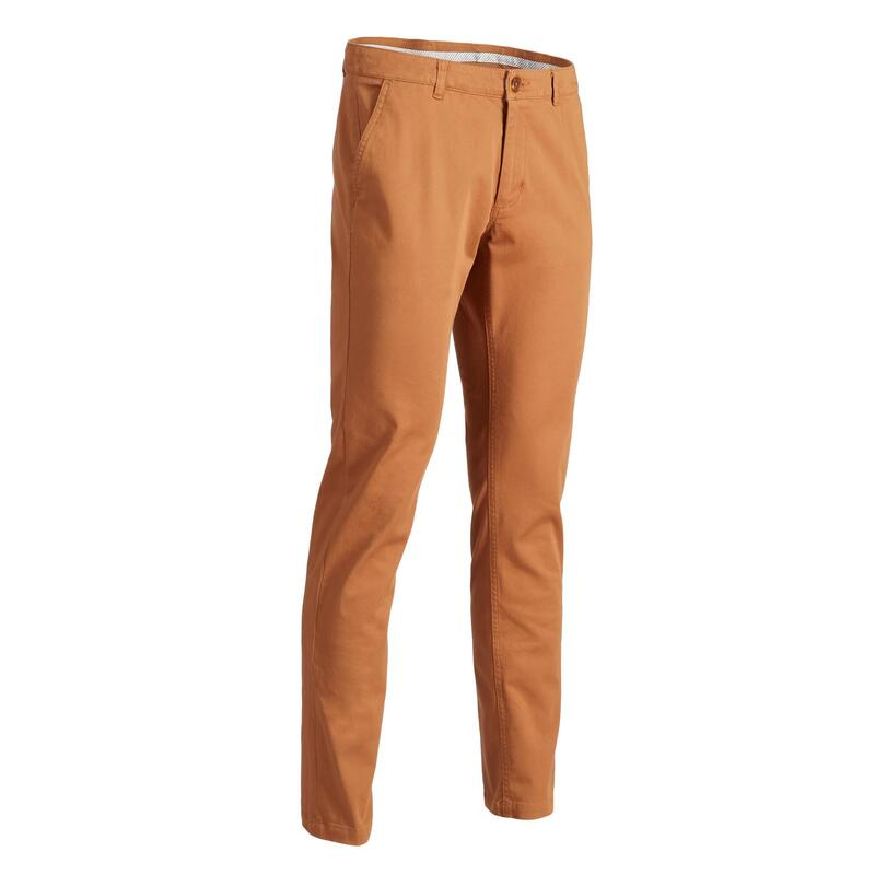 MEN'S MILD WEATHER GOLF TROUSERS CHESTNUT