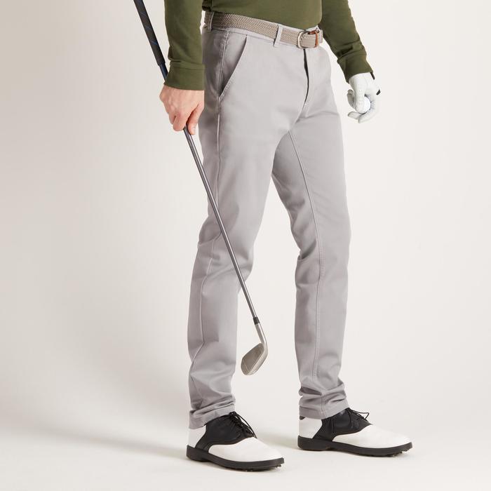 Golfbroek voor heren, zacht weer, grijs