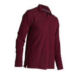 Golf Long Sleeve Polo Shirt - Burgundy