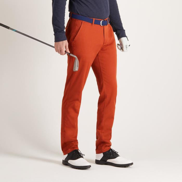 Golfbroek voor heren, zacht weer, roestkleurig