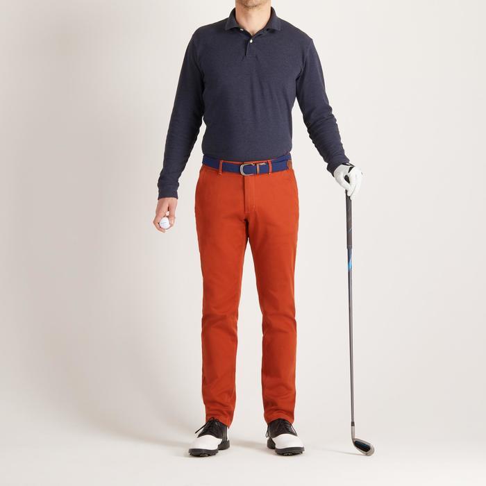Golf Poloshirt Langarm Herren blau
