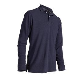 POLO MANCHES LONGUES GOLF HOMME 500 BLEU