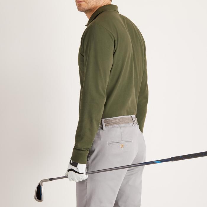 Golf Poloshirt Langarm Herren kaki