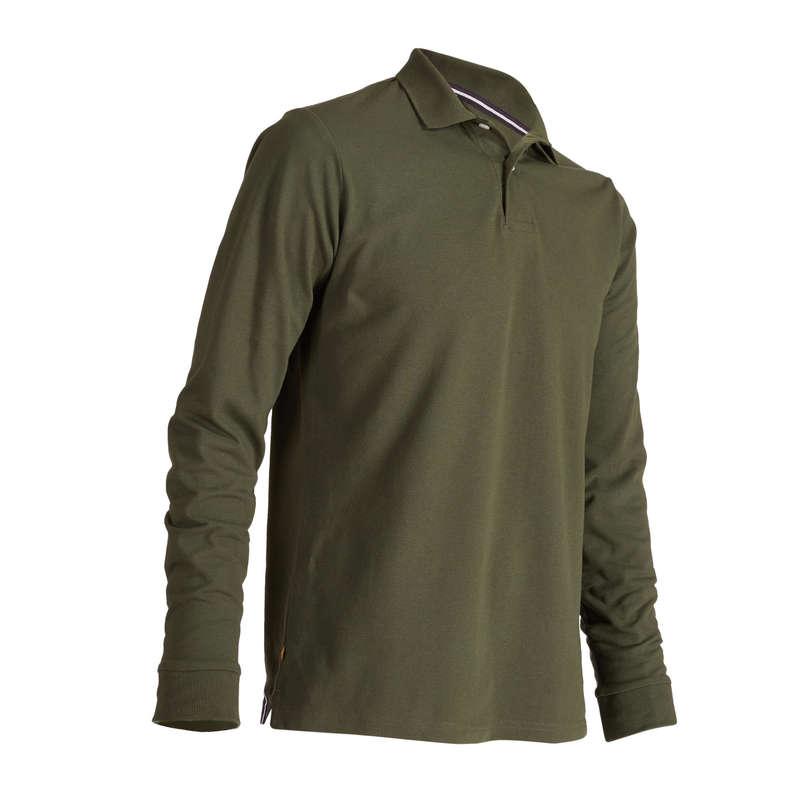 MENS MILD WEATHER GOLF CLOTHING Golf - M MW LS Polo Shirt - Khaki INESIS - Golf Clothing