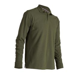 Men's Mild Weather Long Sleeve Golf Polo Shirt - Khaki