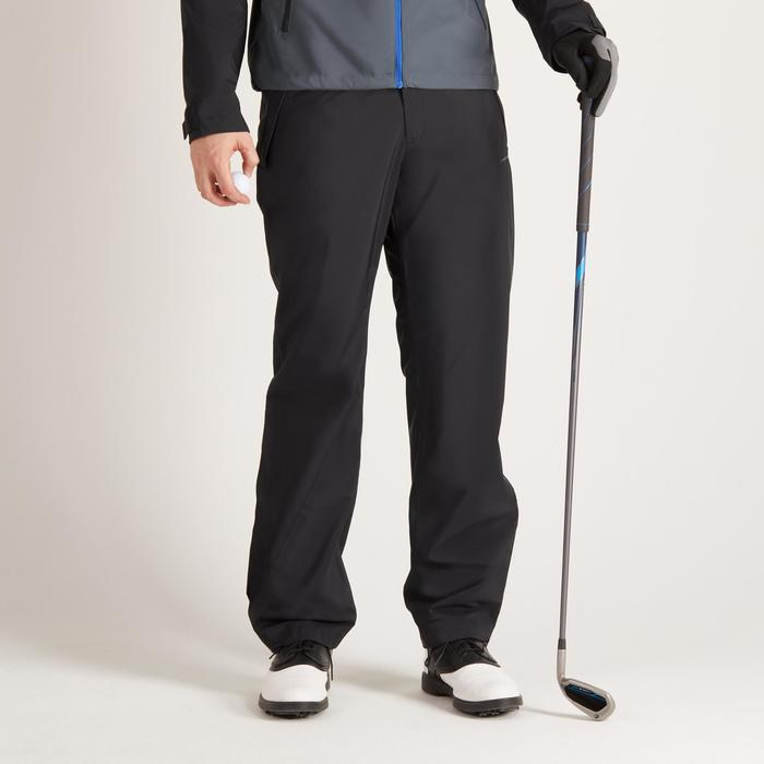 900 Men's Golf Waterproof Overtrousers - Black - 1489155