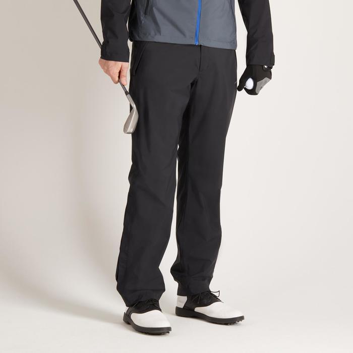 900 Men's Golf Waterproof Overtrousers - Black - 1489163