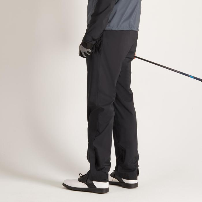 900 Men's Golf Waterproof Overtrousers - Black - 1489167